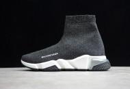 Balenciaga Speed Lt Clear Sole Knit Sock Sneakers Silver Grey