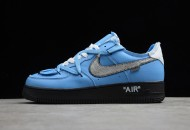 Off-White x Nike Air Force 1 Low Blue Black Silver 2020