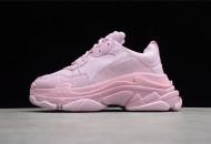 Balenciaga Allover Logo Triple S Sneaker Pink